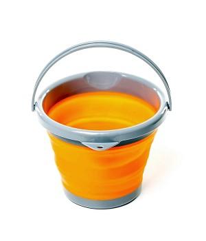 Ведро TRC-092 складное силиконовое, 5 л - orange