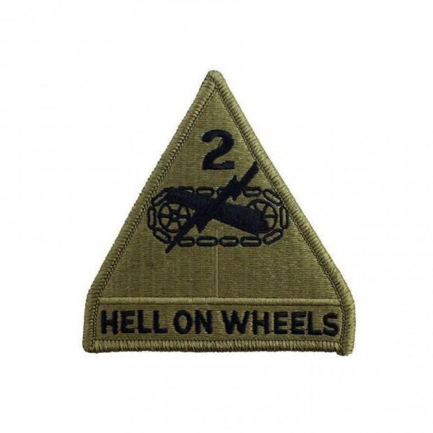Емблема 2-га Бронетанкова дивізія армії США - олива