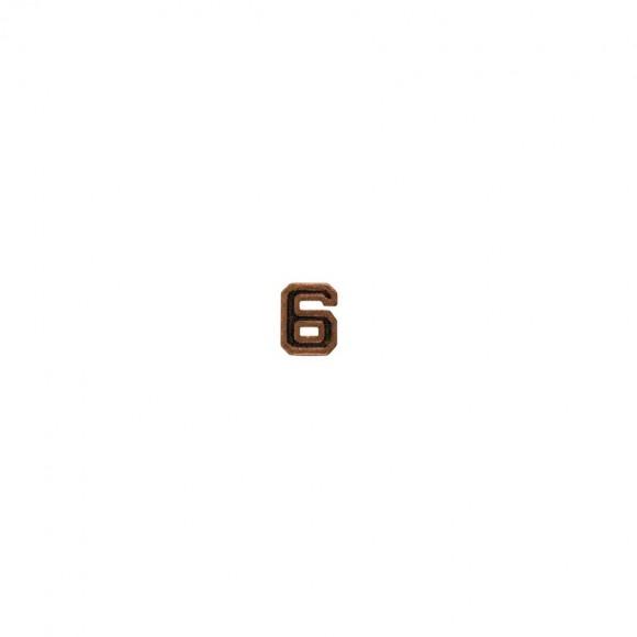 """Бронзова цифра """"6"""" міні"""
