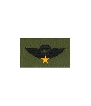 Нашивка South Vietnam Parachute Jump Wings - Olive Green