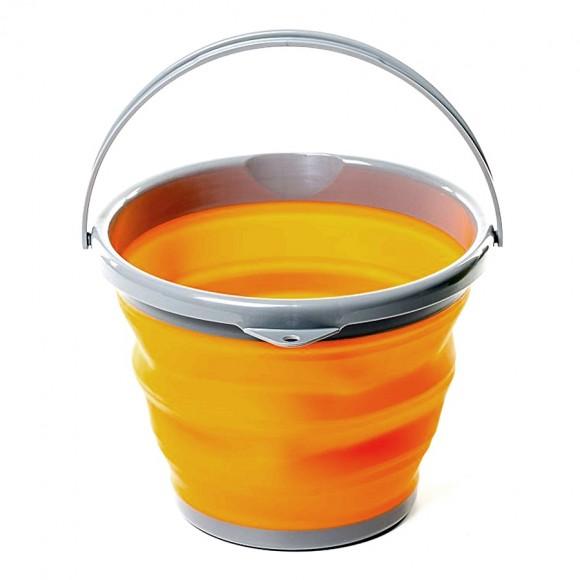 Відро TRC-092 складане силіконове, 5 л - orange