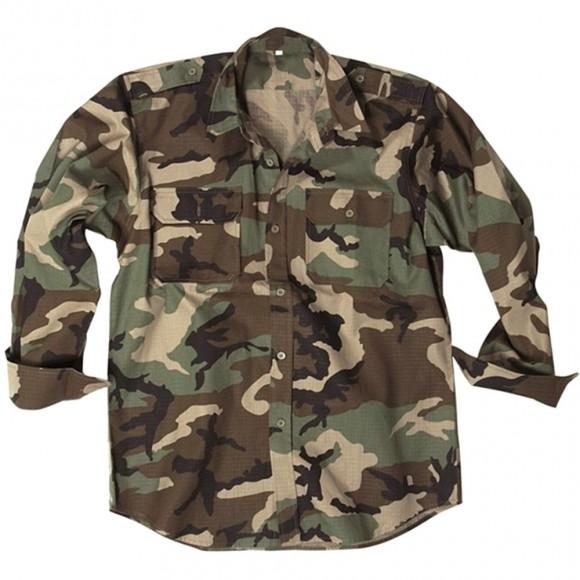 Сорочка MIL-TEC з д/рукавами - US Woodland