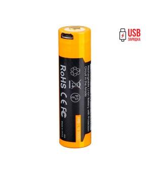 Аккумулятор 18650 Fenix 3500 mAh ARB-L18-3500U micro usb