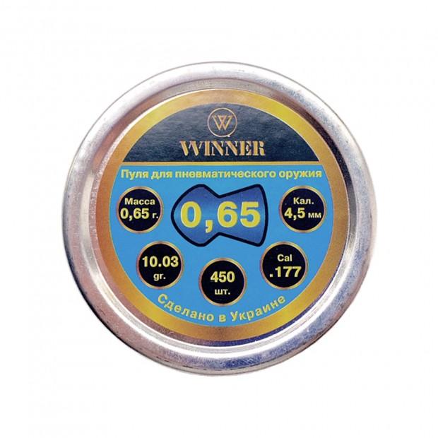 Кулі WINNER - кал. 4.5 мм, 0.65 г, 450 шт.