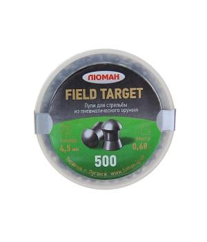 Пули ЛЮМАН Field Target круглоголовые - кал. 4.5 мм, 0.68 г, 500 шт.
