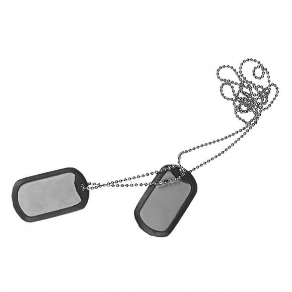 Армейский жетон с глушителем (Dog tag)