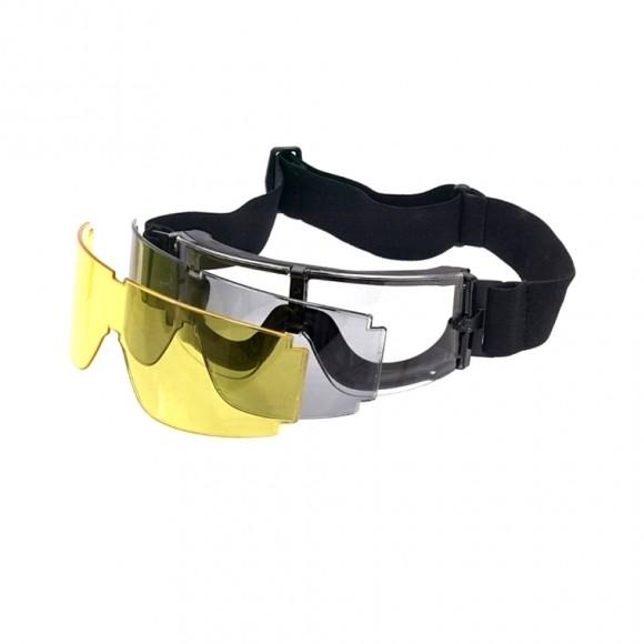 Очки-маска GX-1000 с 3-мя сменными линзами