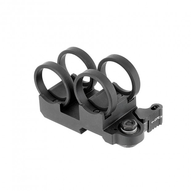 Крепление (моноблок) для ЛЦУ и фонаря, ø-20 мм
