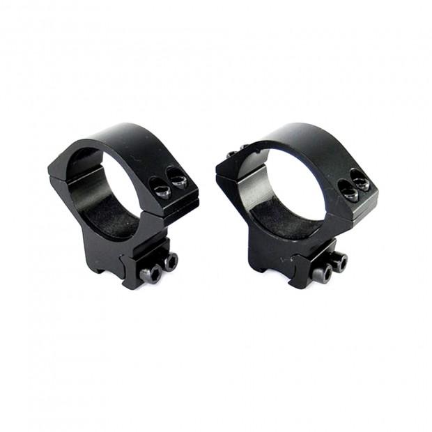 Кільця для оптики ø-30 мм, на ластівчин хвіст - низькі