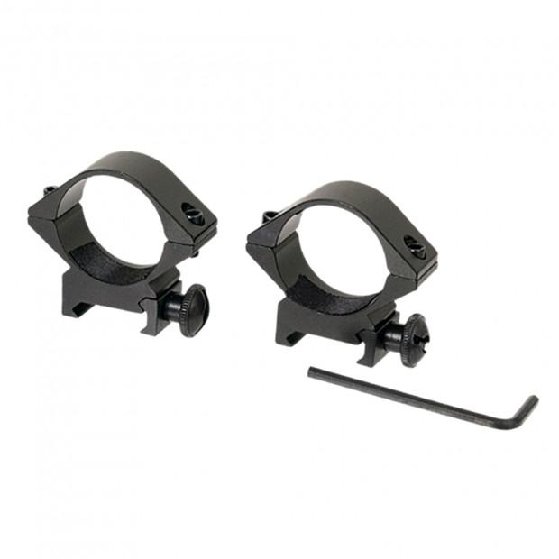 Кільця для оптики, ø-30 мм, на Weaver/Picatinny - низькі