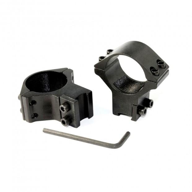 Кільця для оптики ø-30 мм, на ластівчин хвіст - високі