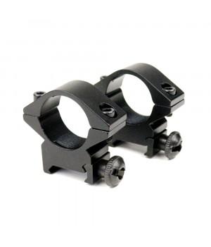 Кільця для оптики, ø-25.4 мм, на Weaver/Picatinny - низькі