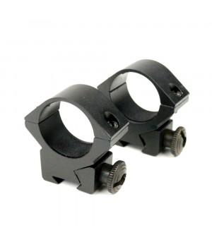 Кольца для оптики, ø-25.4 мм, на ласточкин хвост - низкие