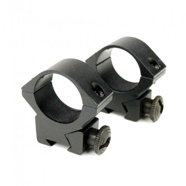 Кільця для оптики, ø-25.4 мм, на ластівчин хвіст - низькі